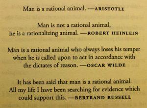 Man is rational - citaten