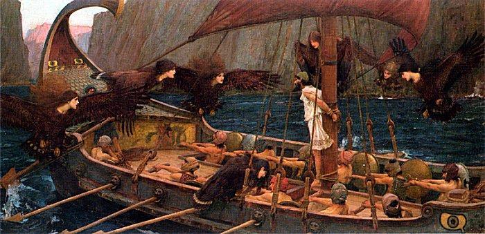 Odysseus bij de Sirenen